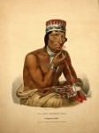James Otto Lewis, Wa-Em-Boesh-Kaa, A Chippeway Chief, painted at the Treaty of Fon du Lac, 1826. | Courtesy Joseph F. Cullman 3rd Library of Natural History, Smithsonian Institution Libraries.