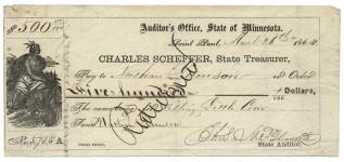 Bounty receipt | Courtesy of the Minnesota Historical Society