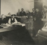 White Earth Ojibwe signing up for parcels of reservation land under the government's allotment policy, 1890.   Courtesy of the Minnesota Historical Society
