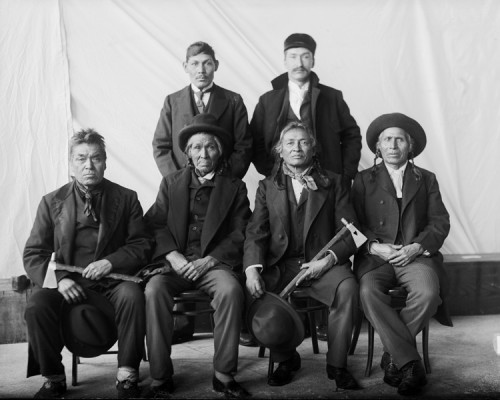 Delegation of Red Lake leaders to Washington, D.C., February, 1899. | Photo by De Lancey Gill, courtesy of the National Anthropological Archives, Smithsonian Institution