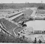Winnibigoshish Dam under construction | Courtesy Library of Congress, Prints and Photographs Division