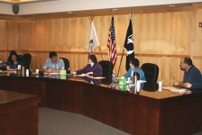 Fond du Lac tribal council meeting in session, about 2010. Council members include (from left) District III Representative Mary Northrup, Secretary-Treasurer Ferdinand Martineau Jr., Chairwoman Karen Diver, District II Representative Sandra Shabiash, and District I Representative Wally Dupuis. | Photo by Daniel Huculak, courtesy of the Fond du Lac Band of Lake Superior Chippewa