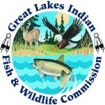 Insignias of the 1854 Treaty Authority and of the Great Lakes Indian Fish and Wildlife Commission