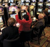 Guests playing slot machines at the Grand Portage Lodge and Casino, the largest employer in Cook County. | Courtesy of the Grand Portage Band of Lake Superior Chippewa