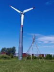 At White Earth, a Native-operated not-for-profit organization has constructed a wind turbine to generate low-cost electricity and reduce consumption of fossil fuels. | Courtesy of the White Earth Land Recovery Project