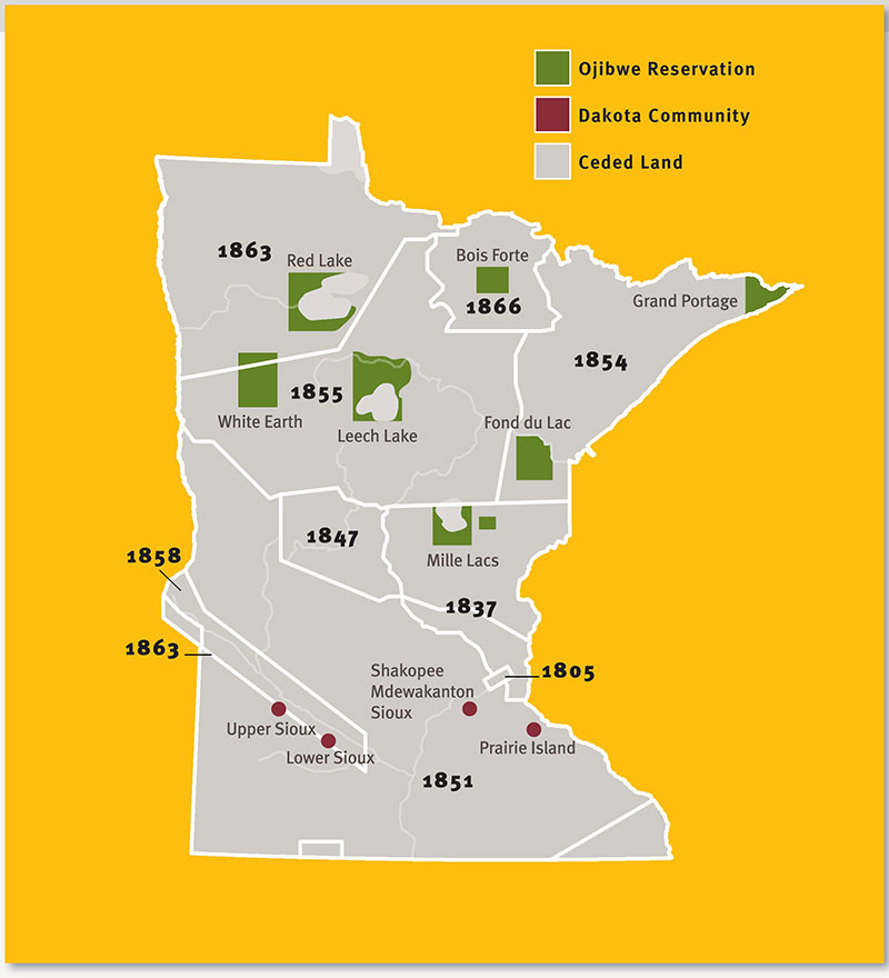Treatiesmatterorg U SAmerican Indian Treaties In Minnesota - Map of native american reservations in the us
