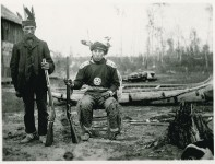 Two men holding rifles near Mille Lacs, 1899. | Photo by David Bushnell, courtesy of the National Anthropological Archives, Smithsonian Institution