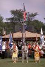 An honor guard presents the flags of the United States and Indian nations at the annual Mille Lacs Traditional Powwow, 2010. | Courtesy of the Mille Lacs Band of Ojibwe